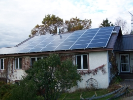 Home off grid solar  panel installation by Eco Alternative Energy