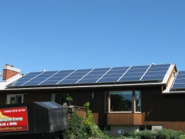 Solar energy home system by Eco Alternative Energy Sharbot Lake